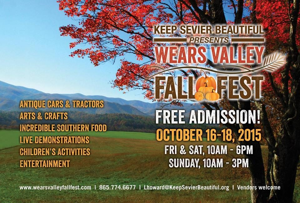 Wears Valley Fall Fest October, Keep Sevier Beautiful, Fall Festival East Tennessee, Fall Festival Smoky Mountains, Fall Festivals in Tennessee, Wears Valley Fall Festival, Wears Valley Special Event, Wears Valley Tennessee Attraction